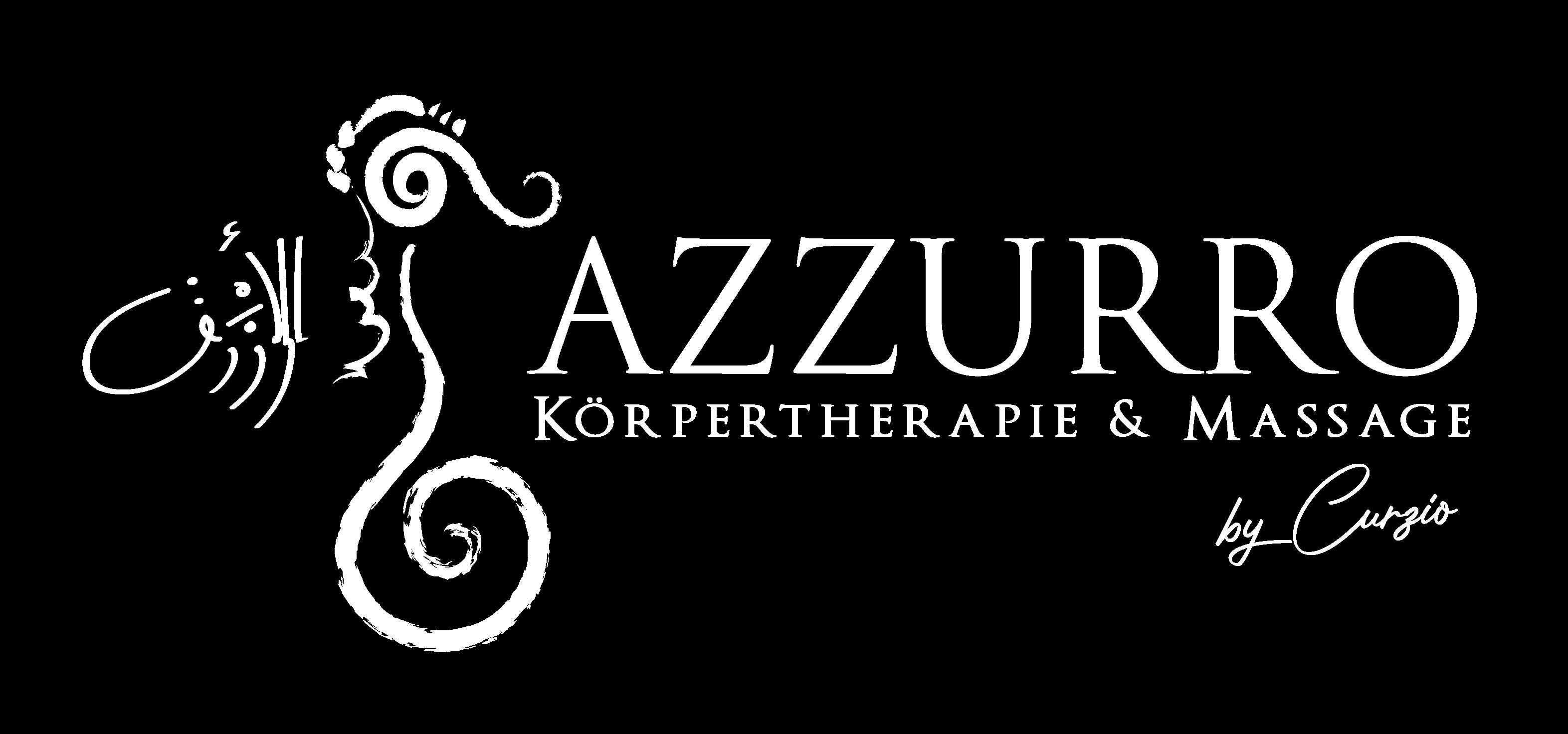 Azzurro Logo Weiß geschnitten