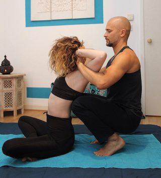 Mobile Massage Dehnung Freiform